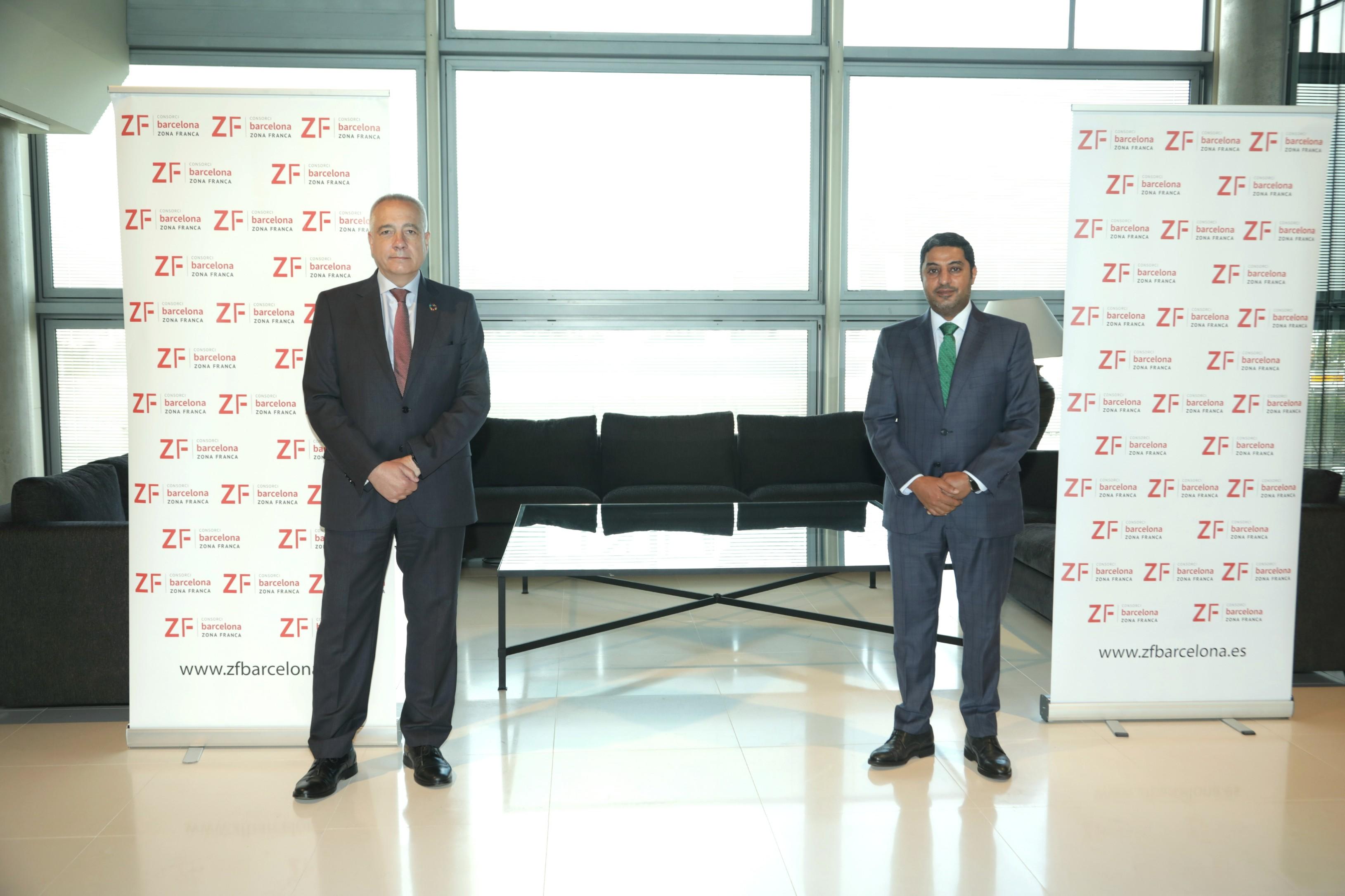 El cónsul general de Catar visita el Consorci de la Zona Franca de Barcelona